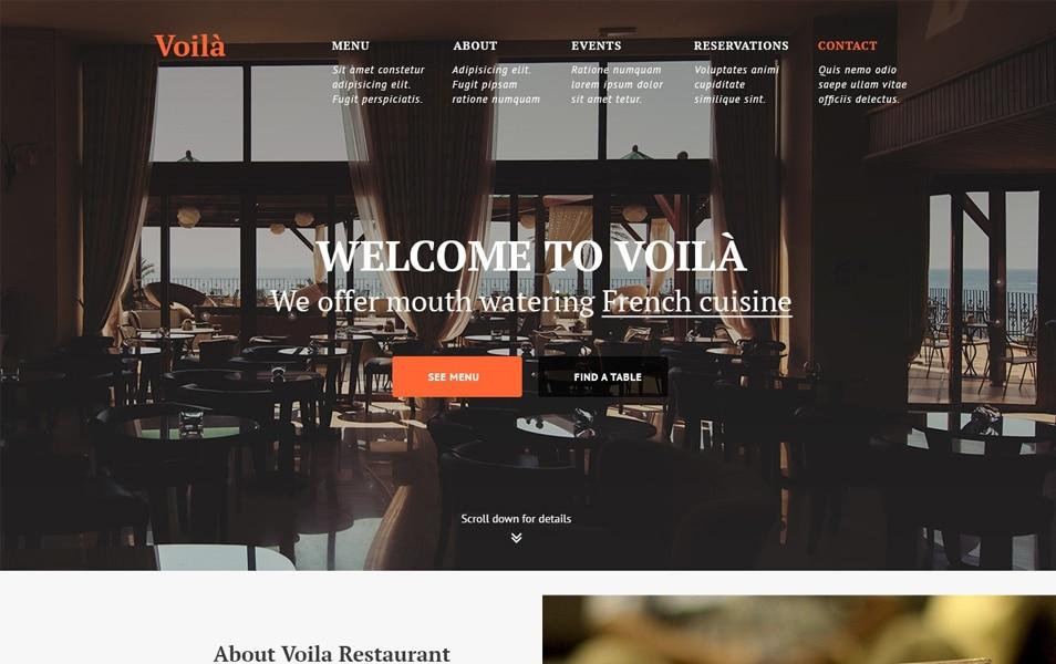 Voila – Restaurant PSD template