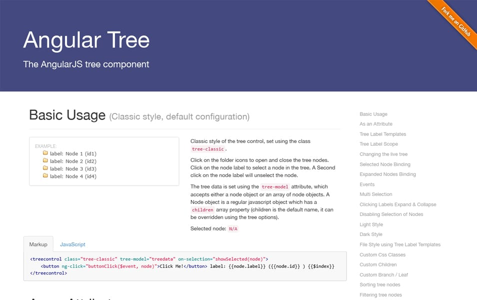 Angular Tree Control