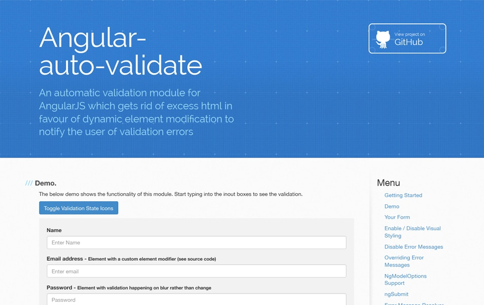 Angular-auto-validate