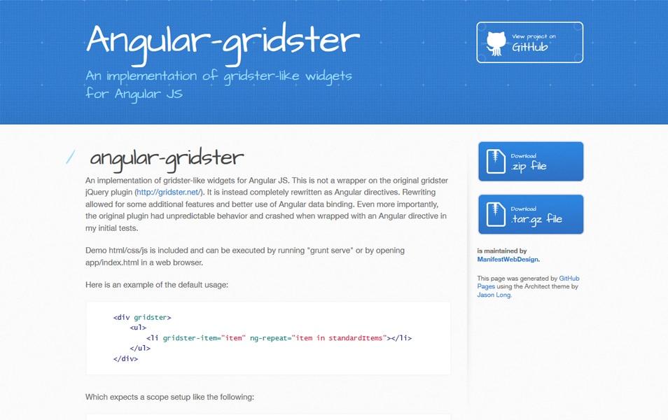 Angular-gridster