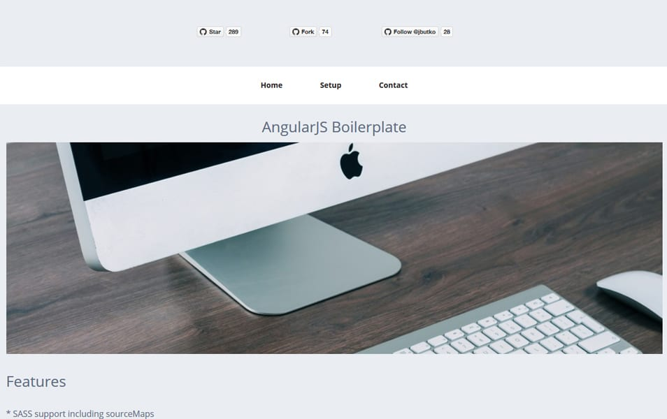 از AngularJS Boilerplate را