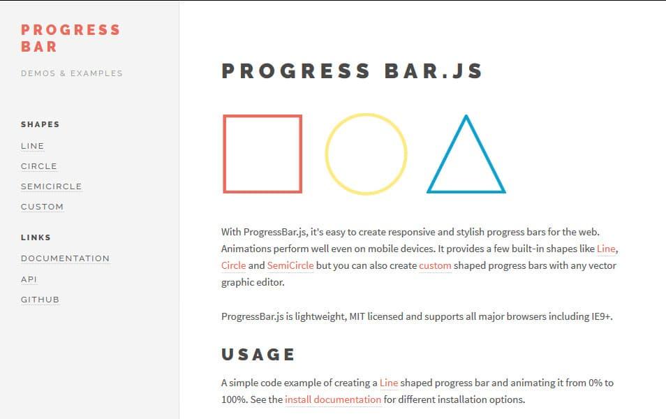 زاویه ای-progressbar در