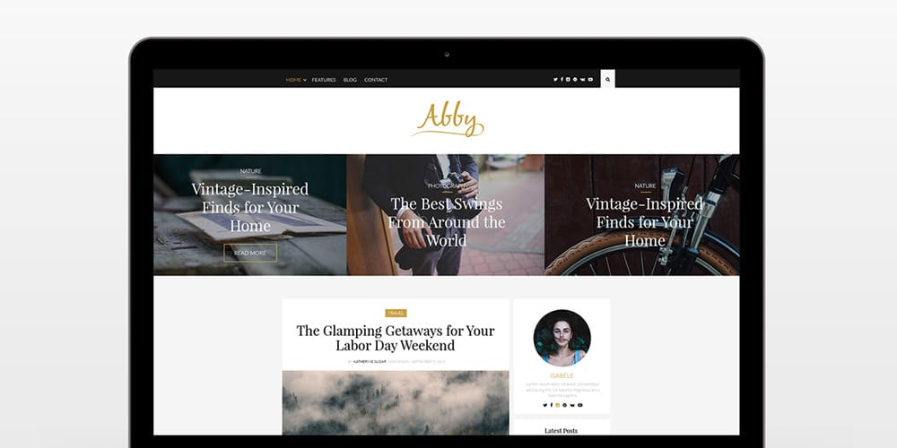 Abby - Blog Theme PSD