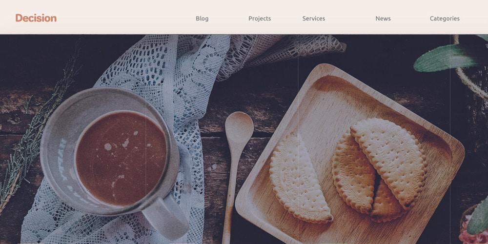 Decision - Landing Page PSD