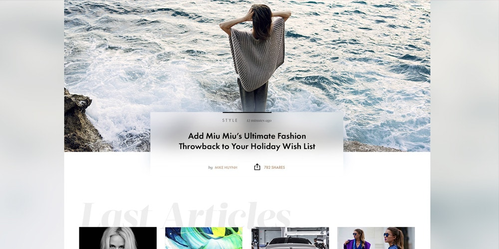 Fashion News Template PSD