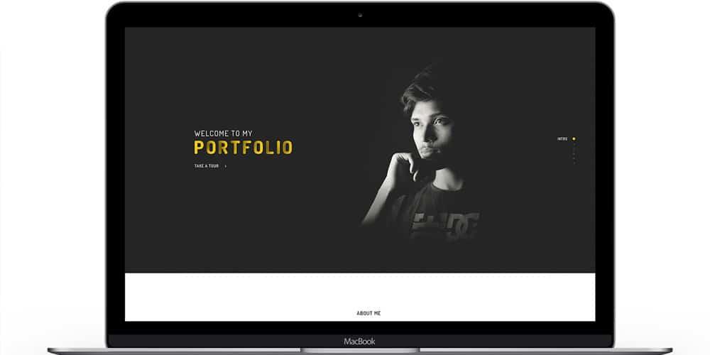 Free Portfolio Landing Page Template PSD