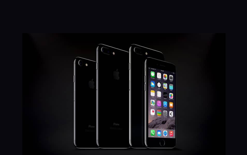iPhone 7 & 7 Plus Jet Black Psd Mockup