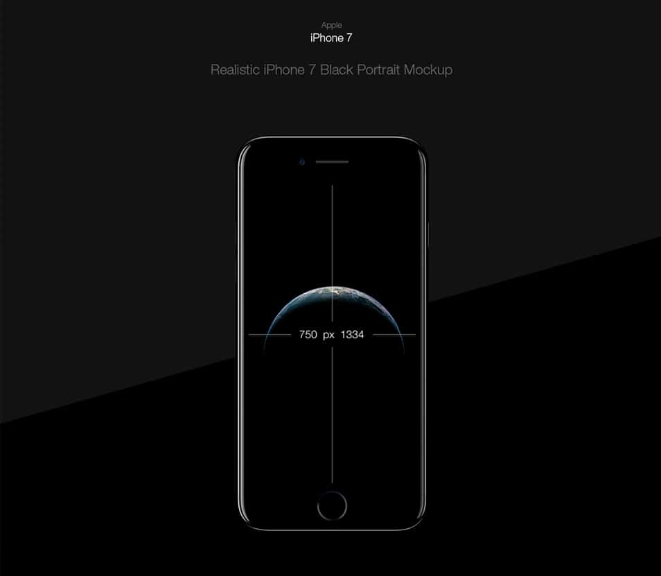 iPhone 7 Black - Free PSD Mockup