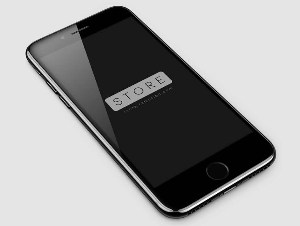 iPhone 7 Jet Black Free Mockup PSD