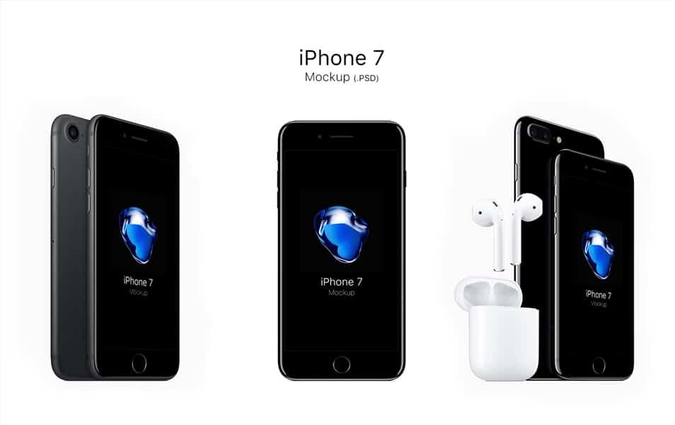 iPhone 7 Mockups PSD