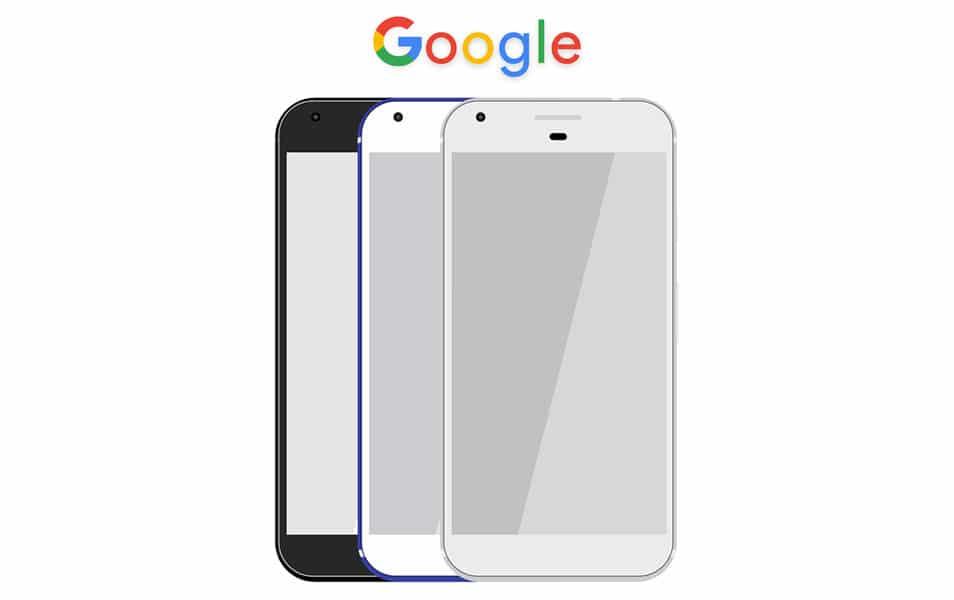 Google Pixel Free PSD Mockup
