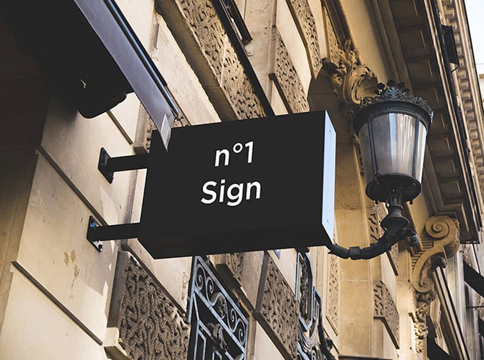 2 Hip Signs Mock-ups