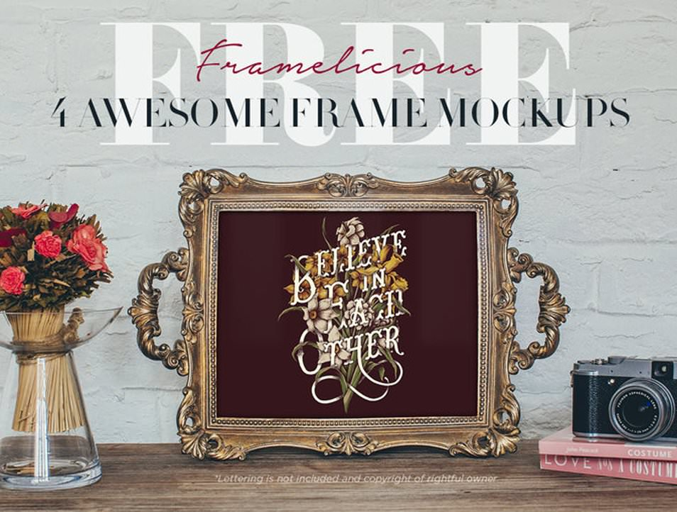 4 Real Photo Frame Mockups