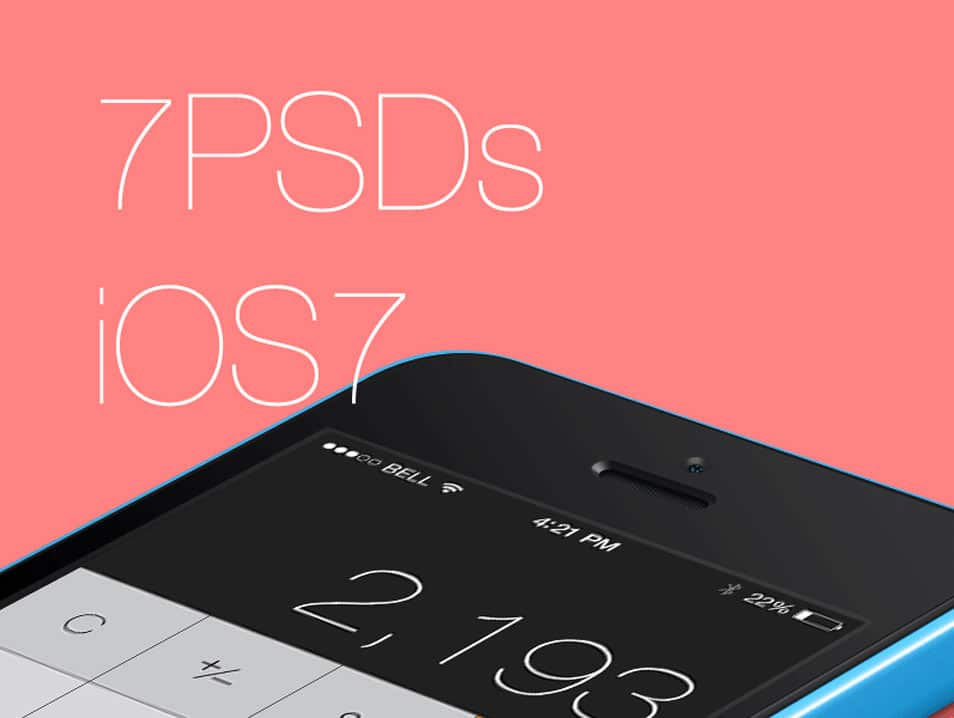 7 PSDs from iOS7
