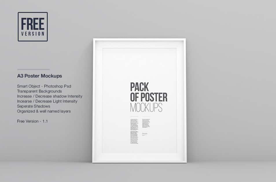 A3 Poster Frame Mockups