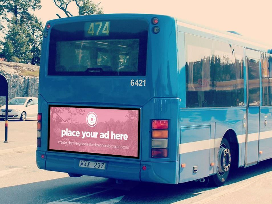 Bus billboard Mockup in Photoshop