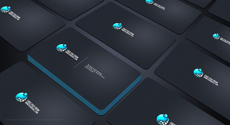 Business Card Showcase Mock up PSD