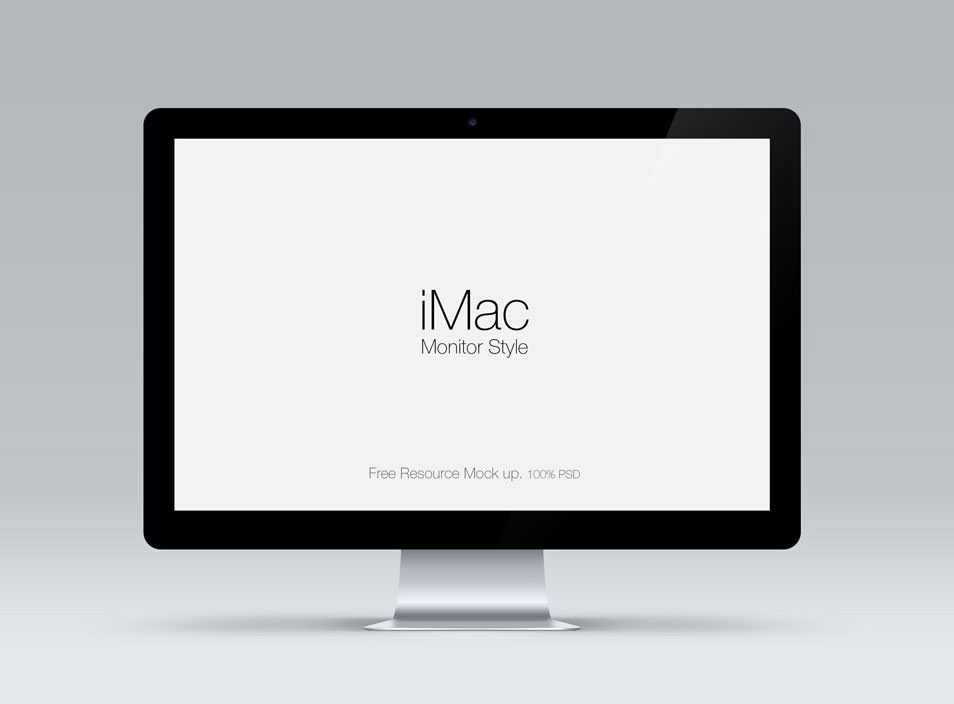 Cinema Display Psd Mockup