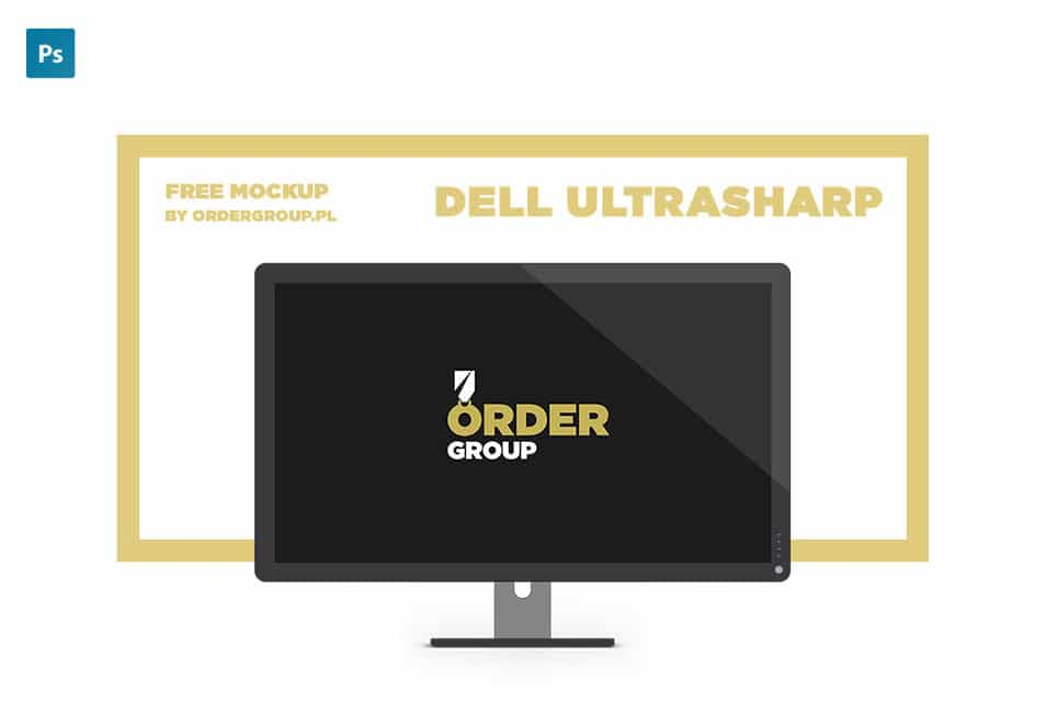 Dell UltraSharp Free Mockup