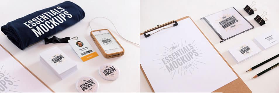 Essentials Mockups Free Set