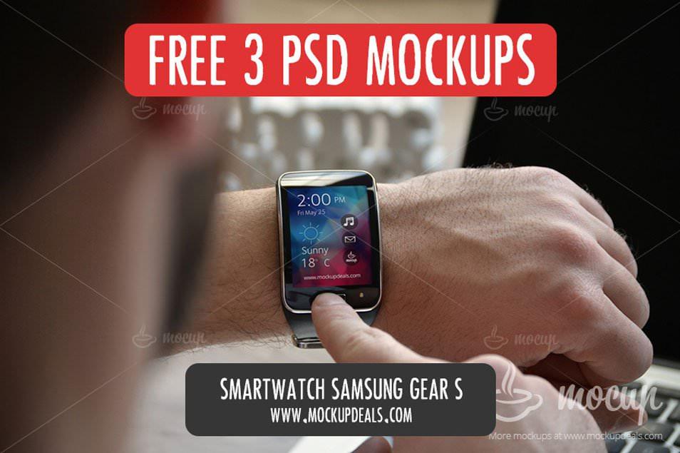 FREE 3 PSD Smartwatch Mockup