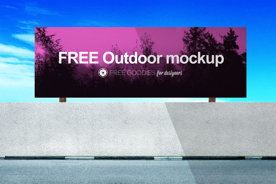 FREE BILLBOARD MOCKUP IN PSD