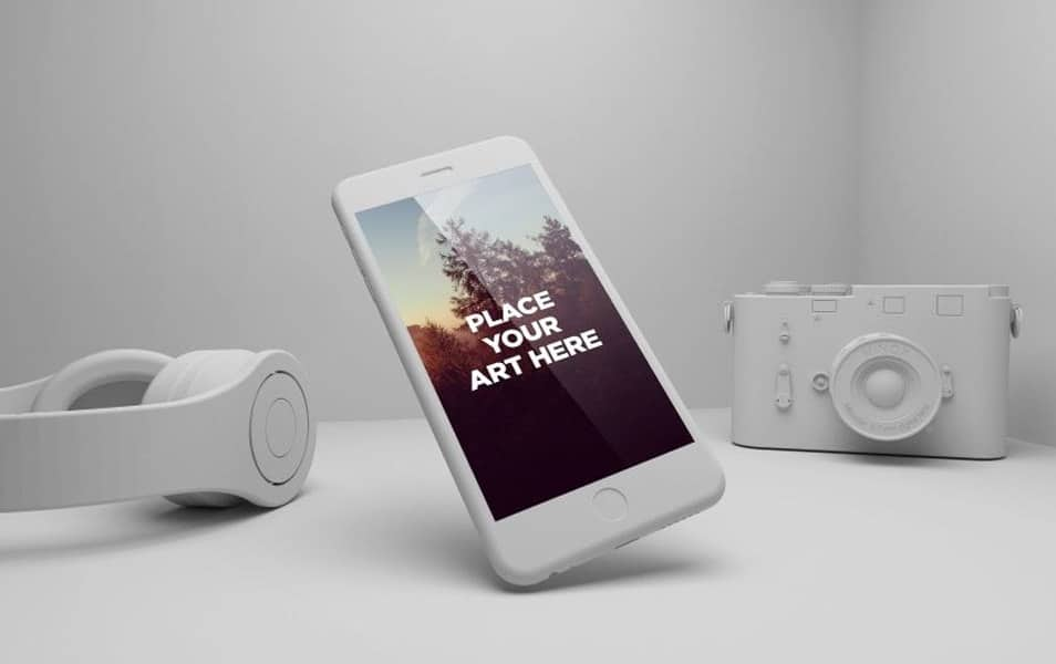 FREE IPHONE 6 PLAYFUL PSD MOCKUP