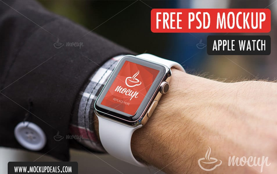 FREE PSD Apple Watch Mockup