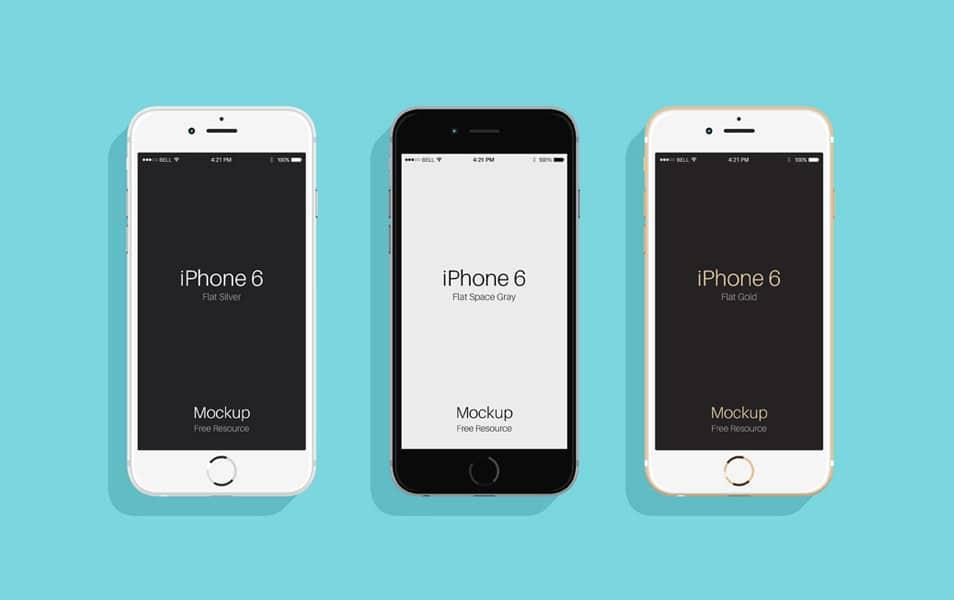 Flat Psd iPhone 6 & 6s Mockup