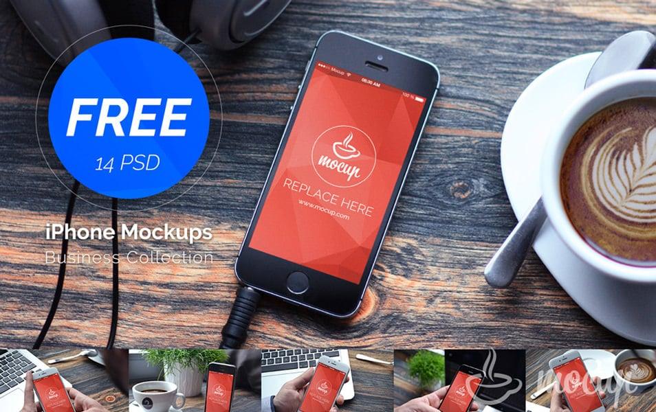 Free 14 PSD iPhones Mockup