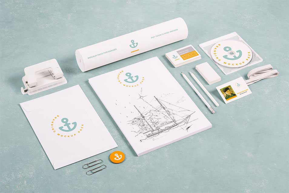 Free Branding / Stationery Mock Up 15