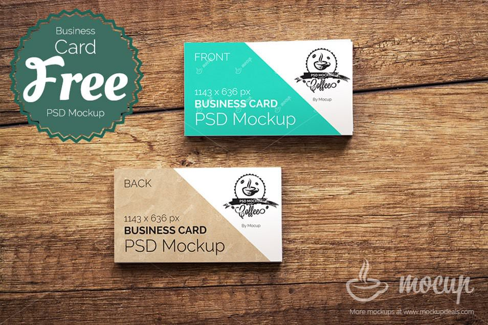 "Free CI Business Card Mockup ""A"""