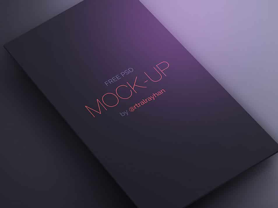 Free PSD Dark UI/App Screen Mock-up
