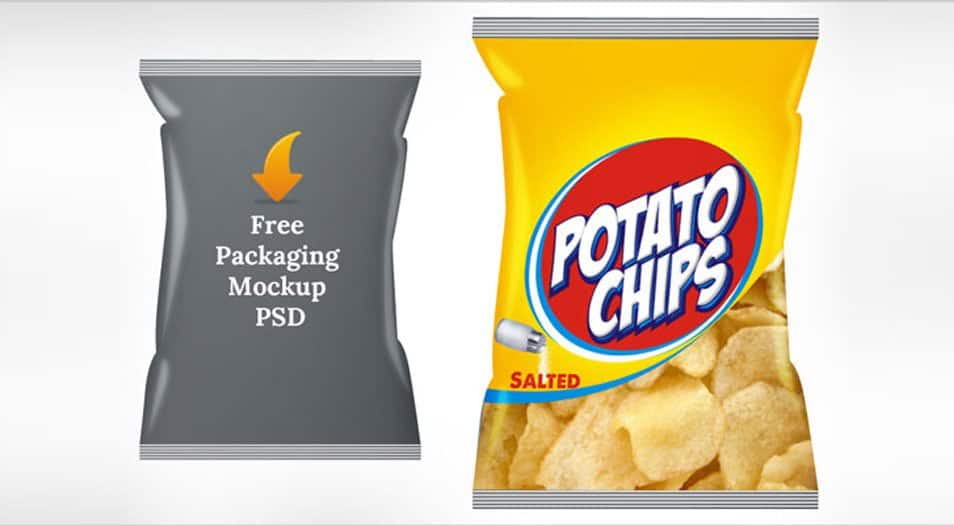 Free Potato Chips Packaging Mock Up PSD Template