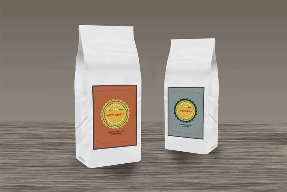 Free Product Paper Bags Mockup