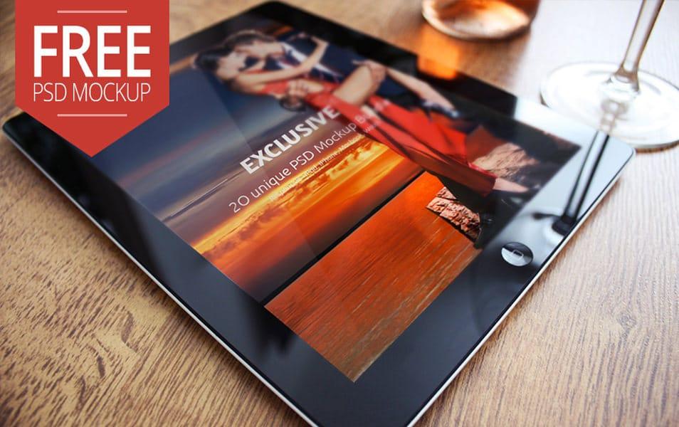 Free iPad 2 Mockup Exclusive