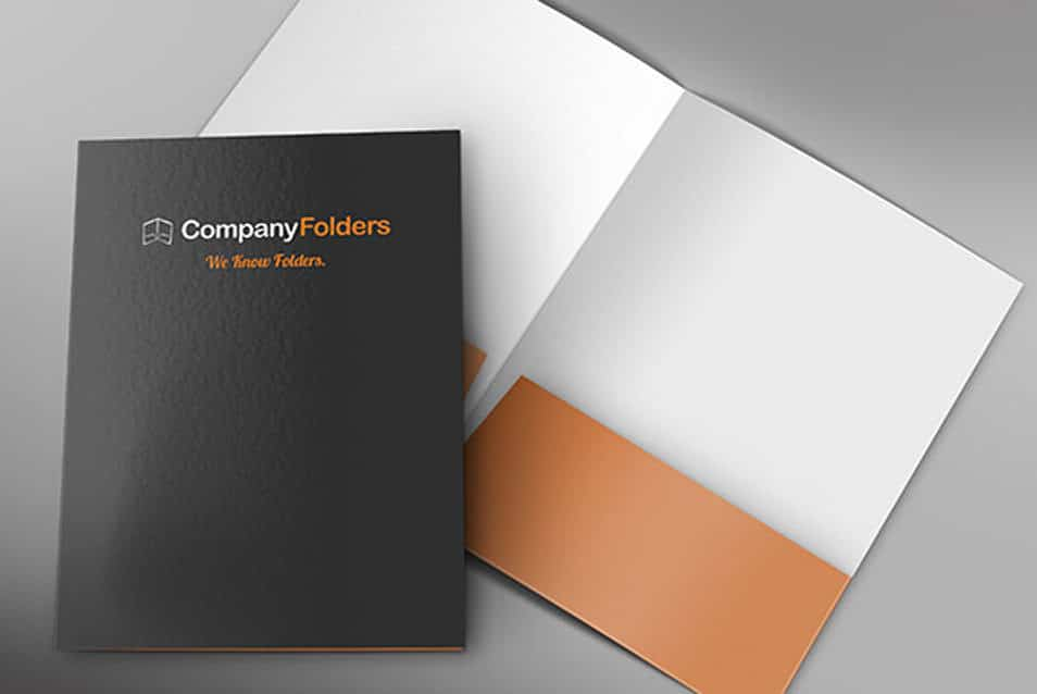 Front and Inside Folder Mockup Template