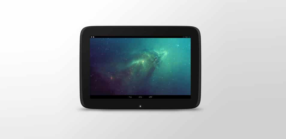 Google Nexus 10 PSD Mock Up