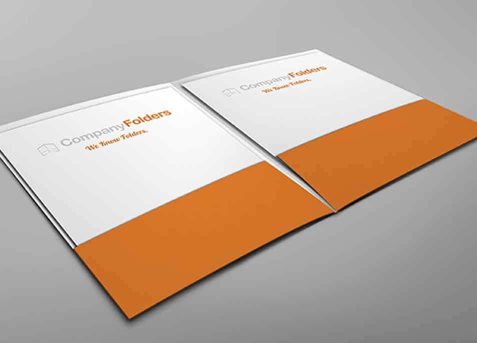 Inside View Two Pocket Folder Mockup Template