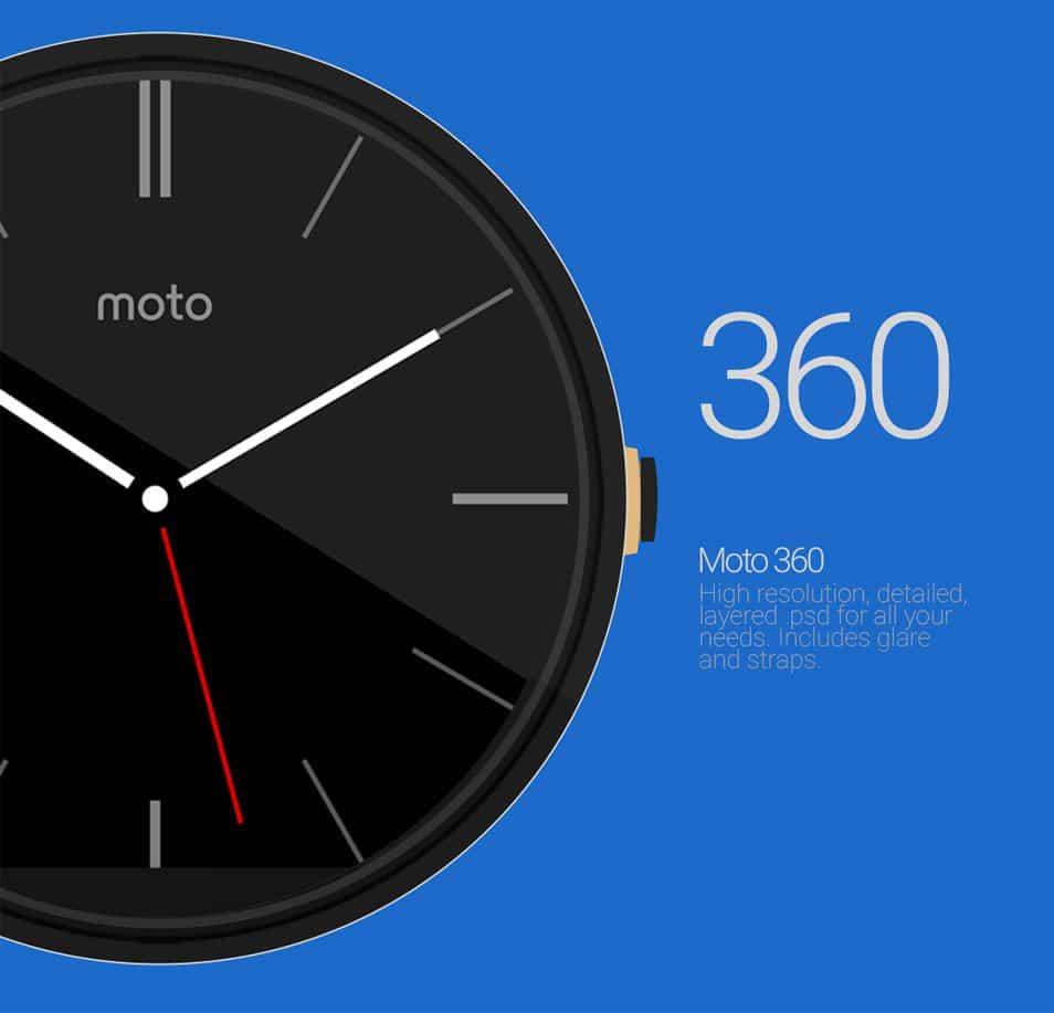 Moto 360 Mockup PSD