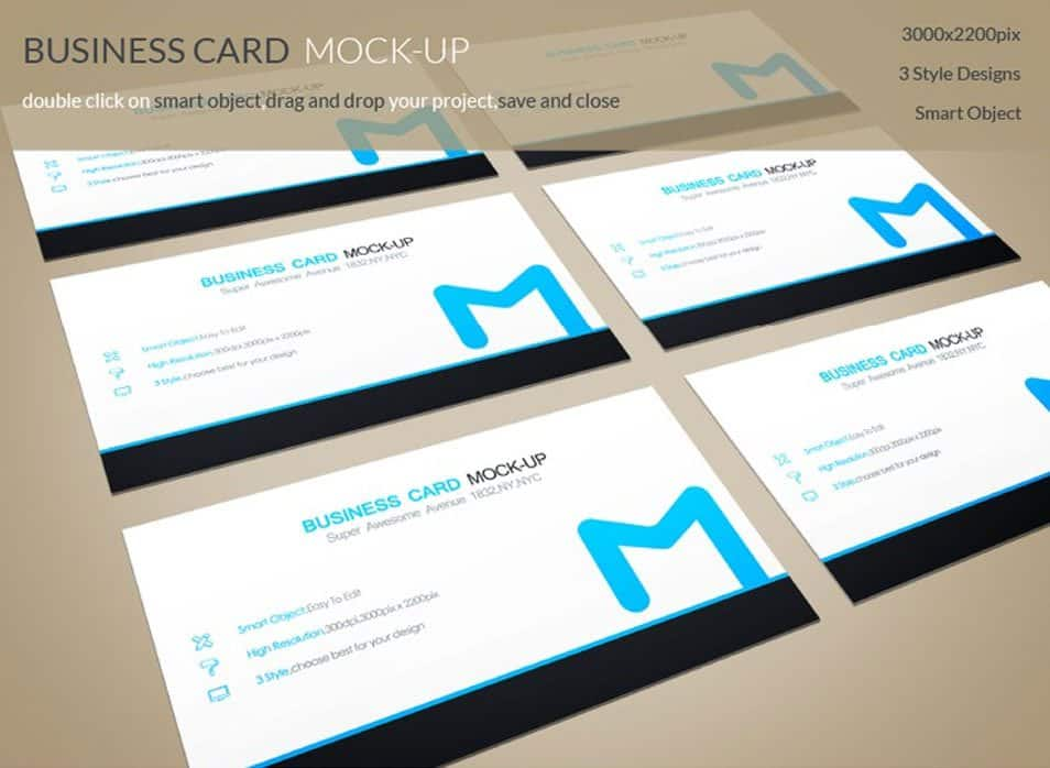 PSD Business Card MockUps