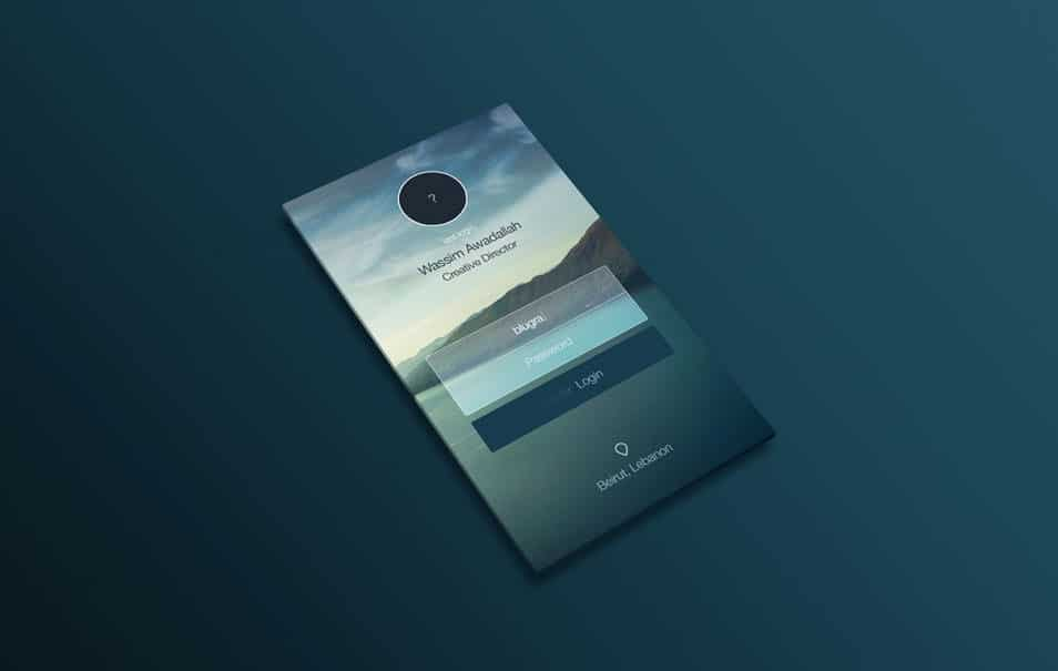 Perspective App Design Mock-Up