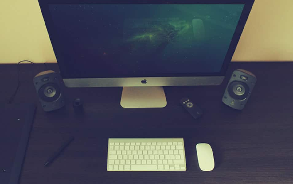 Photorealistic iMac Mock-Up Scene vol. 2
