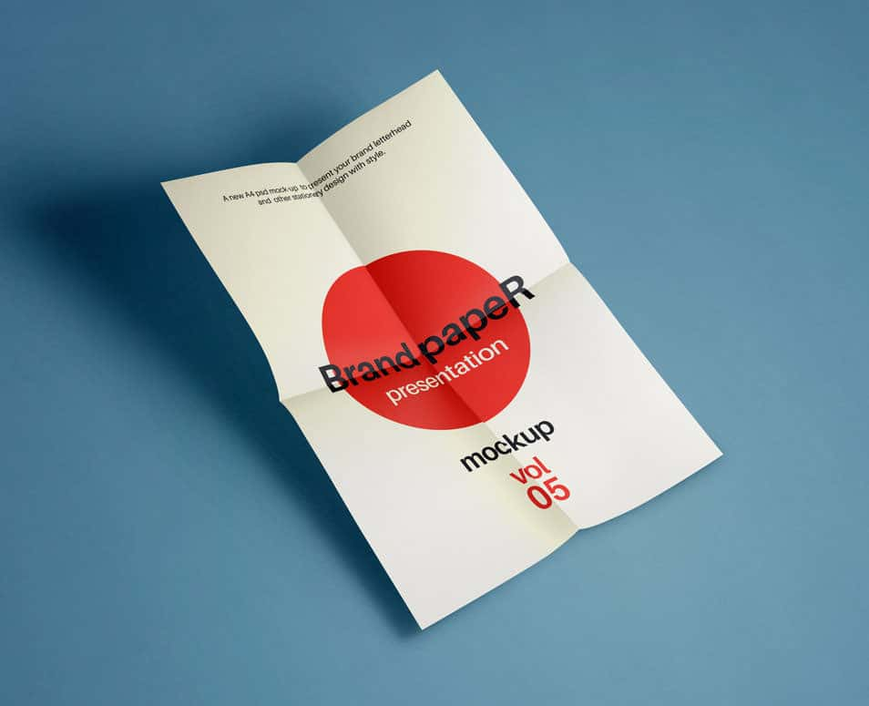 Psd A4 Paper Mock-Up Vol5