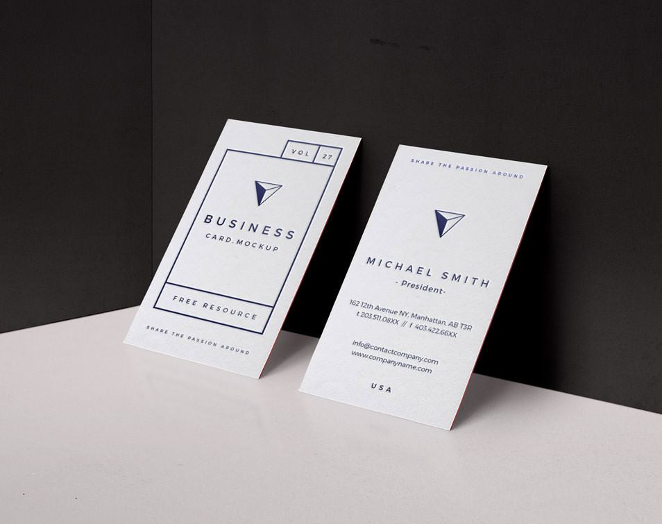 Psd Business Card Mock-Up Vol27
