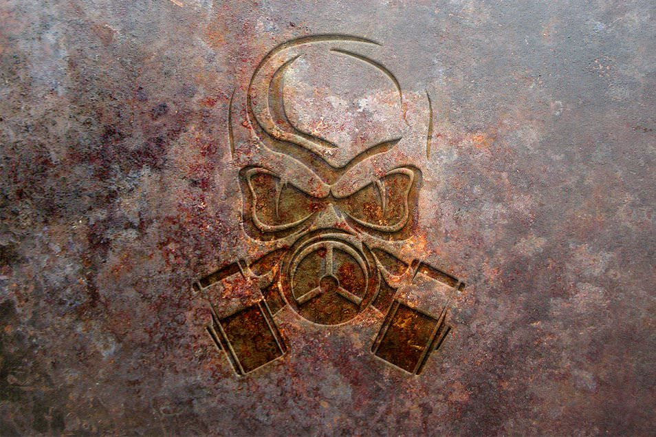 Rust Metal Logo Mock-up