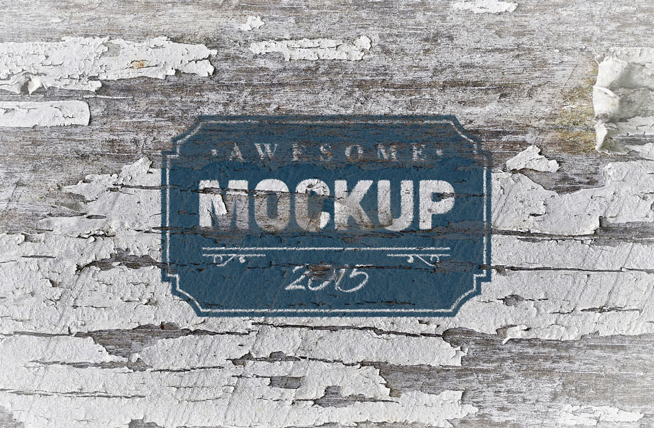 Rusty Metal-Wood Logo Mockup