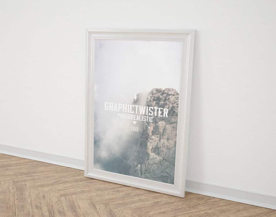 Single Poster Frame Mockup