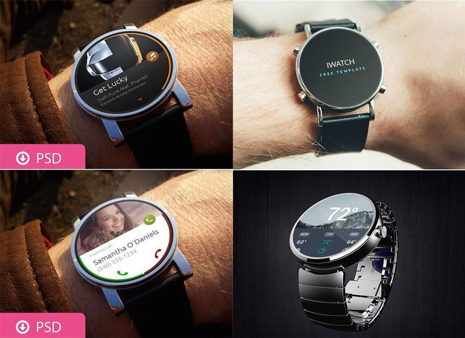 Smartwatch Mockups Psd