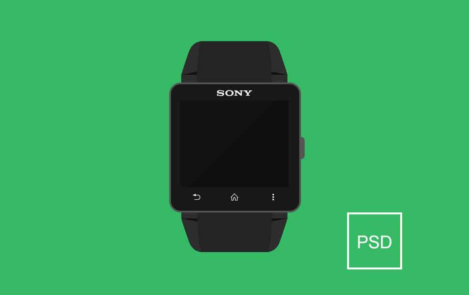 Sony Smartwach Mockup PSD
